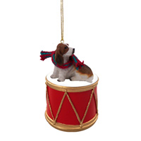 Basset Hound Drum Ornament