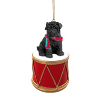 Shar Pei Black Drum Ornament