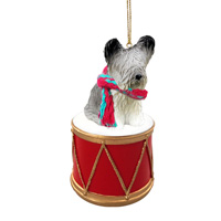 Skye Terrier Drum Ornament