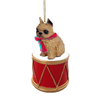 Brussels Griffon Red Drum Ornament