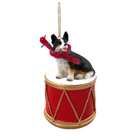 Welsh Corgi Cardigan Drum Ornament