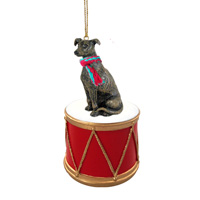 Greyhound Brindle Drum Ornament