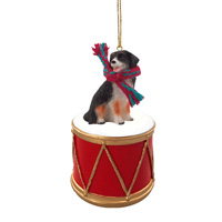 Bernese Mountain Dog Drum Ornament