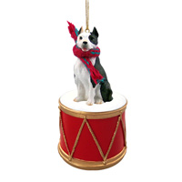Pit Bull Terrier Brindle Drum Ornament