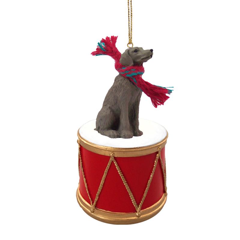 Weimaraner Drum Ornament