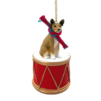 Basenji Drum Ornament