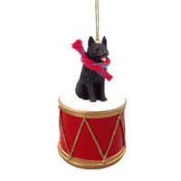 Schipperke Drum Ornament