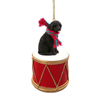 Portuguese Water Dog Drum Ornament