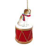 Borzoi Drum Ornament