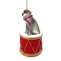 Irish Wolfhound Drum Ornament