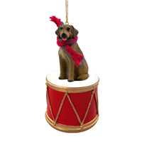 Rhodesian Ridgeback Drum Ornament