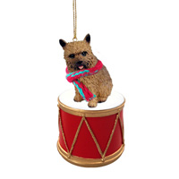 Norwich Terrier Drum Ornament