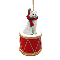 American Eskimo Drum Ornament