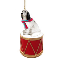 English Setter Belton Blue Drum Ornament