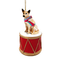Australian Cattle Red Dog Drum Ornament