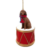 Vizsla Drum Ornament