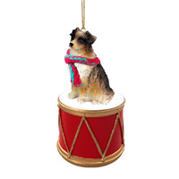 Australian Shepherd Brown Drum Ornament