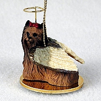 Yorkshire Terrier Pet Angel Ornament