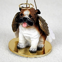 Bulldog Pet Angel Ornament