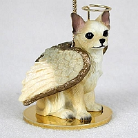 Chihuahua Tan & White Pet Angel Ornament