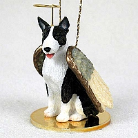 Bull Terrier Brindle Pet Angel Ornament