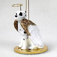 Great Dane Harlequin w/Uncropped Ears Pet Angel Ornament