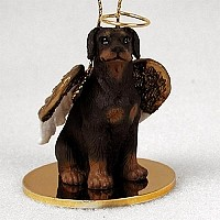 Doberman Pinscher Red w/Uncropped Ears Pet Angel Ornament