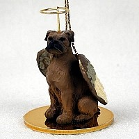 Boxer Tawny w/Uncropped Ears Pet Angel Ornament
