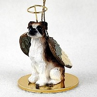 Boxer Brindle w/Uncropped Ears Pet Angel Ornament