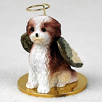 Shih Tzu Tan w/Sport Cut Pet Angel Ornament