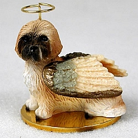 Lhasa Apso Brown w/Sport Cut Pet Angel Ornament