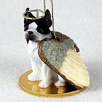 Boston Terrier Pet Angel Ornament