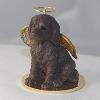 Labradoodle Chocolate Pet Angel Ornament