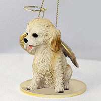 Cockapoo Blond Pet Angel Ornament