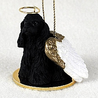 Cocker Spaniel Black Pet Angel Ornament
