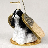 Cocker Spaniel Black & White Pet Angel Ornament