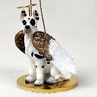 Great Dane Harlequin Pet Angel Ornament