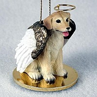 Labrador Retriever Yellow Pet Angel Ornament