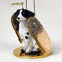 Brittany Liver & White Spaniel Pet Angel Ornament