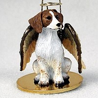 Brittany Brown & White Spaniel Pet Angel Ornament