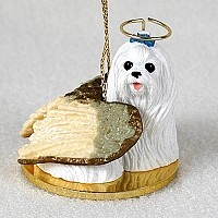 Maltese Pet Angel Ornament