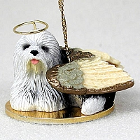 Old English Sheepdog Pet Angel Ornament