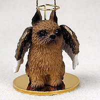 Brussels Griffon Red Pet Angel Ornament