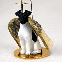Fox Terrier Black & White Pet Angel Ornament