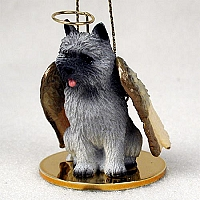 Cairn Terrier Gray Pet Angel Ornament