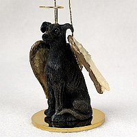 Greyhound Brindle Pet Angel Ornament
