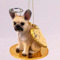 French Bulldog Fawn Pet Angel Ornament