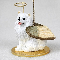 American Eskimo Miniature Pet Angel Ornament