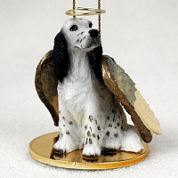 English Setter Belton Blue Pet Angel Ornament
