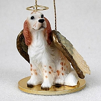 English Setter Belton Orange Pet Angel Ornament
